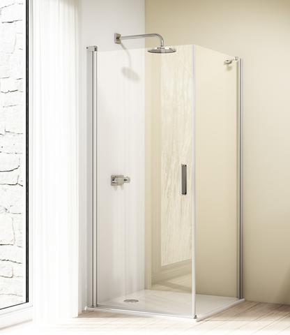 Huppe Design Elegance zijwand sw 80 x 200 cm. voor draaideur matzilver-helder glas