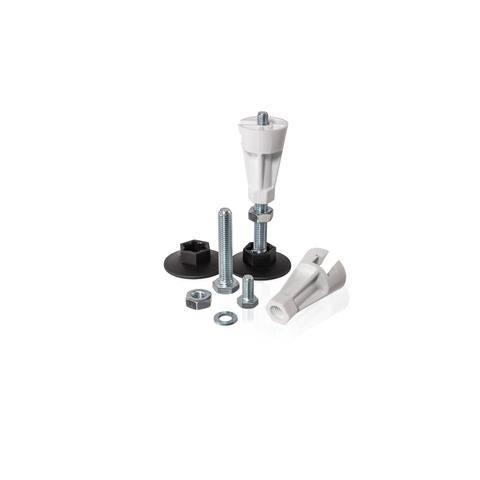 Huppe Easyflat douchebakpoten 5 stuks voor alle modellen staal