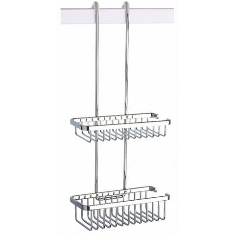 Geesa Basket Collection dubbele korf hangend chroom