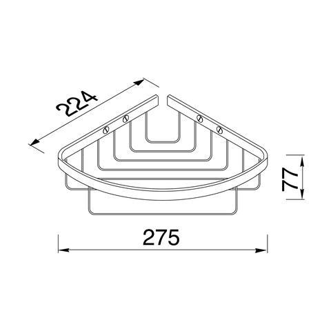 Geesa Basket Collection douchekorf hoekmodel chroom