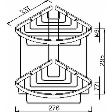 Geesa Basket Collection dubbele hoekkorf groot chroom