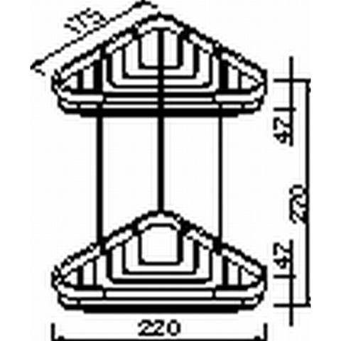Geesa Basket Collection dubbele hoekkorf medium chroom