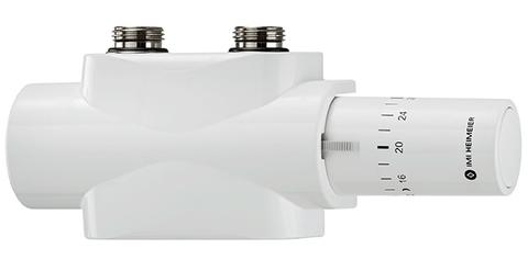 Heimeier Multilux onderblok set 2-pijps met 4 aansluitingen wit