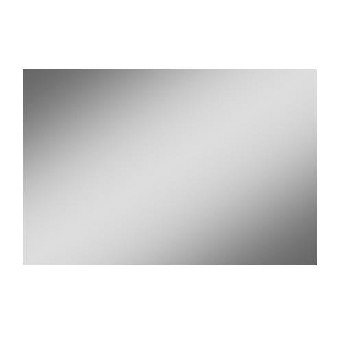 Bad in Beeld spiegel rechthoek op alu frame - alu 1200x30mm (bxd)