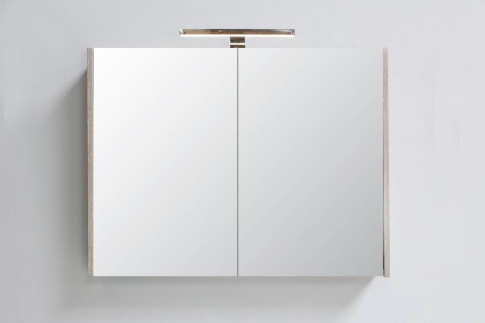 Bad in Beeld spiegelkast 2 deuren incl. dubbelgespiegelde deuren - aangeven bij bestellen 800x140mm (bxd)