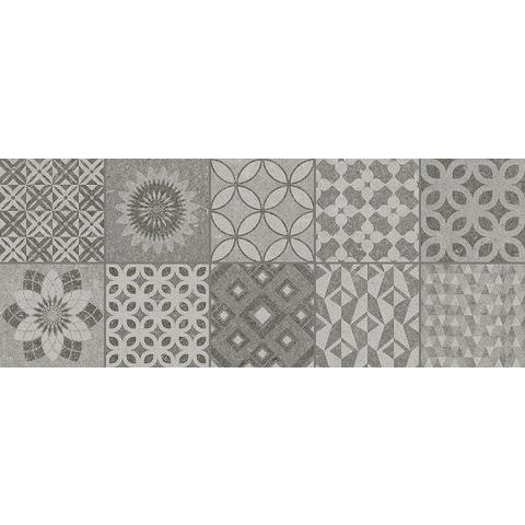 AB Metropoli tegel 20x50 cm grey decor Isole (10 stuks)