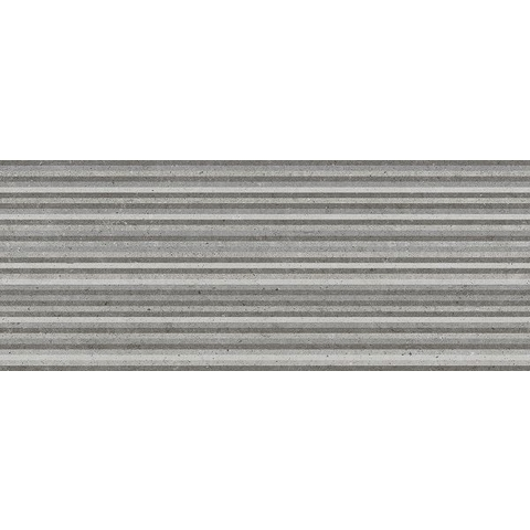 AB Metropoli tegel 20 x 50 cm grey decor Slot (10 stuks)