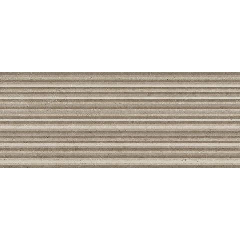 AB Metropoli tegel 20 x 50 cm brown decor Slot (10 stuks)