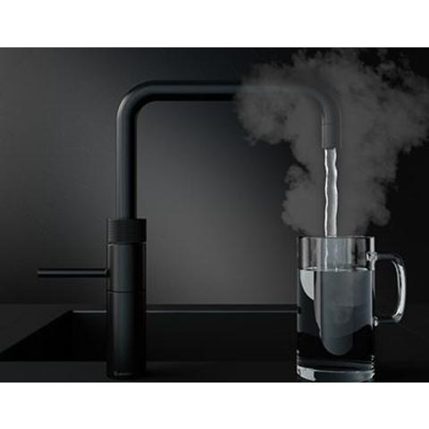Quooker Fusion Square kokend water keukenmengkraan - mat zwart - met Combi boiler