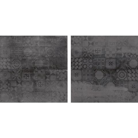 Jabo Concrete tegel 60x60 cm antraciet decor (4 stuks)
