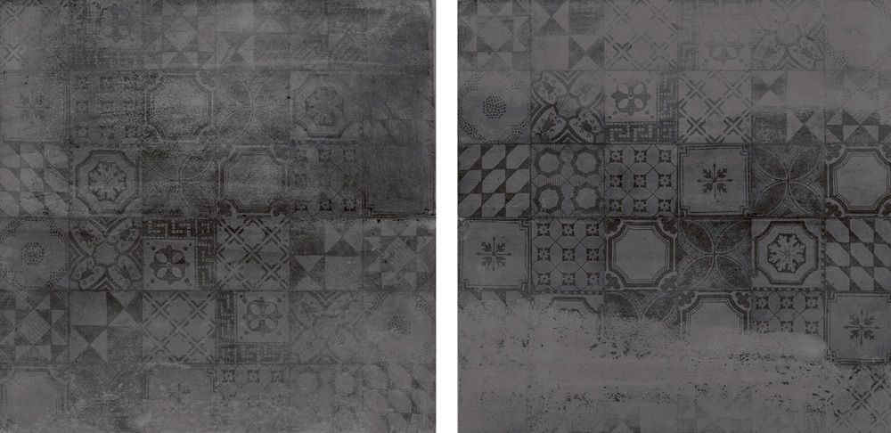 Antraciet Tegels 60x60.Jabo Concrete Tegel 60x60 Cm Antraciet Decor 4 Stuks