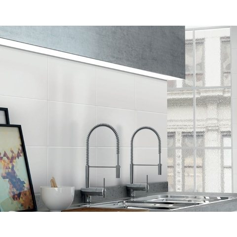 Jabo Kerabo tegel 50 x 25 cm glans wit (16 stuks)