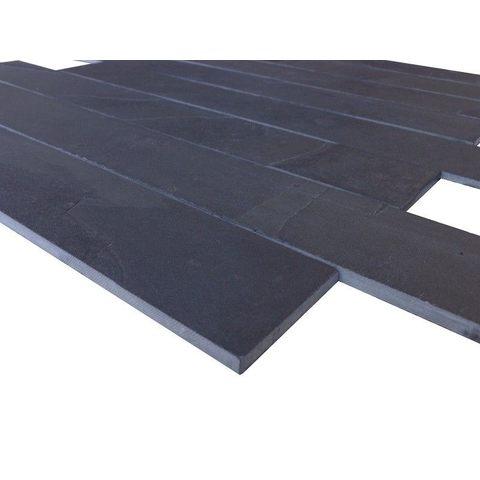 Jabo Mustang black tegelstroken leisteen 60 x 8 cm antraciet