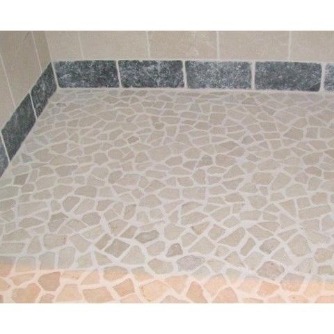 Jabo mozaiektegel 30x30 cm marmer scherven beige (per stuk)