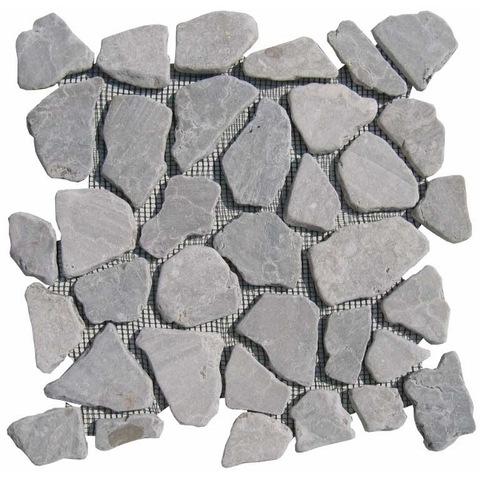 Jabo mozaiektegel 30 x 30 cm marmer scherven light grey (per stuk)