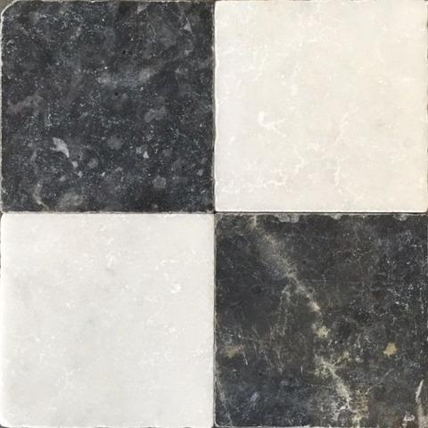 Jabo Anticato marmer tegel 20x20 cm dambord (26 stuks)
