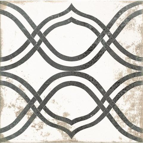 Realonda Antique tegel 33,3x33,3 cm Patchwork zwart/wit (9 stuks)