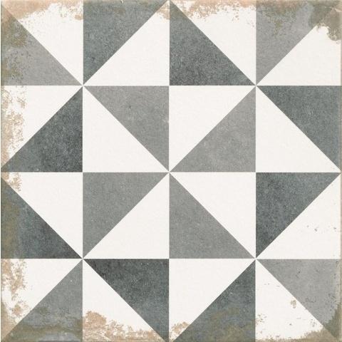 Zwart Wit Tegels.Realonda Antique Tegel 33 3 X 33 3 Cm Triangle Zwart Wit 9 Stuks