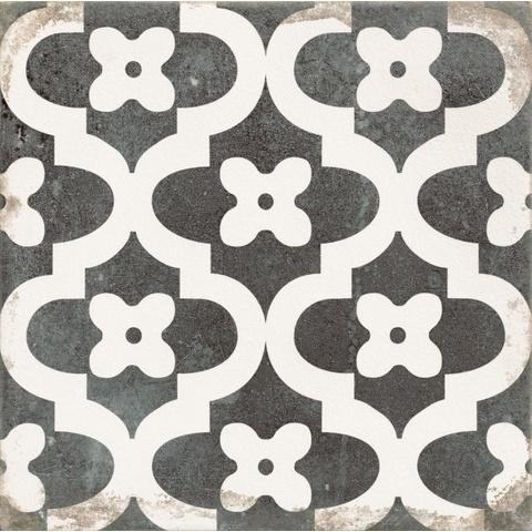 Zwart Wit Tegels.Realonda Antique Tegel 33 3x33 3 Cm Provenzal Zwart Wit 9 Stuks