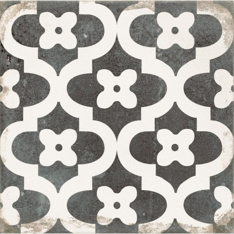 Realonda Antique tegel 33,3x33,3 cm Provenzal zwart/wit (9 stuks)