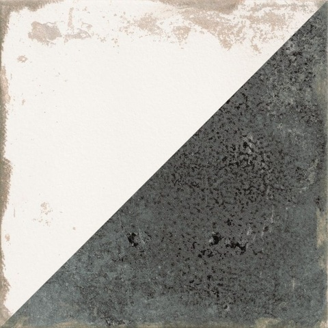 Realonda Antique tegel 33,3x33,3 cm Diagonal zwart/wit (9 stuks)