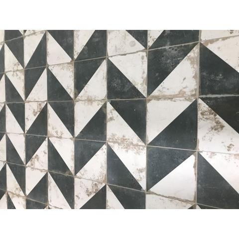 Zwart Wit Tegels.Realonda Antique Tegel 33 3x33 3 Cm Diagonal Zwart Wit 9 Stuks
