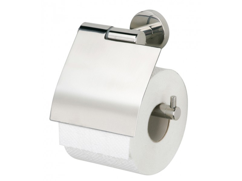 Tiger Boston toiletrolhouder met klep chroom