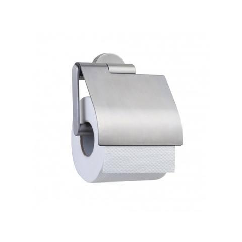 Tiger Boston toiletrolhouder met klep RVS geborsteld