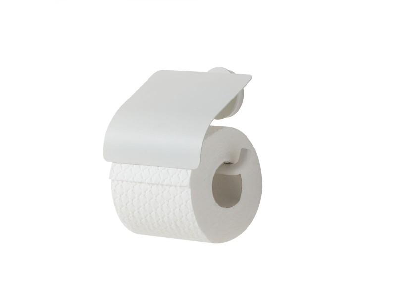 Tiger Urban toiletrolhouder met klep mat wit