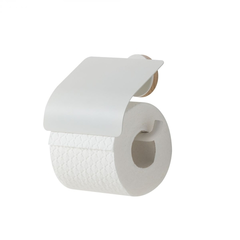 Tiger Urban toiletrolhouder met klep mat wit