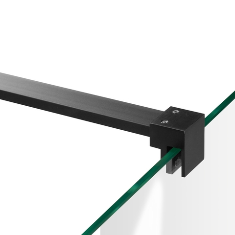 Bewonen Sean 2-delige nisopstelling type C inloopwand met nisdeur aaneengeschakeld 110cm (50/60) mat zwart