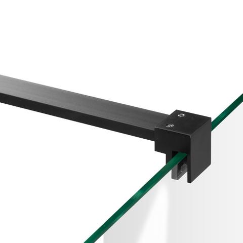 Bewonen Sean 4JC15 2-delige nisopstelling inloopwand met nisdeur aaneengeschakeld 150cm (90/60) mat zwart
