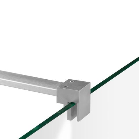 Bewonen Sean 4JC5 inloopdouche reversed met vaste zijwand 100 x 100 x 40 cm RVS geborsteld