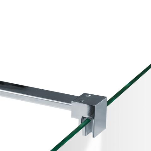 Bewonen Sean 4JC5 inloopdouche reversed met vaste zijwand 100 x 120 x 40 cm chroom