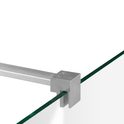 Bewonen Sean 4JC5 inloopdouche reversed met vaste zijwand 100 x 130 x 40 cm RVS geborsteld