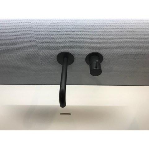 Hotbath Cobber CB005BL inbouw wastafelkraan uitloop 18cm mat zwart