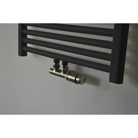 Wiesbaden Riko thermostatisch onderblok haaks-rechts geborsteld staal