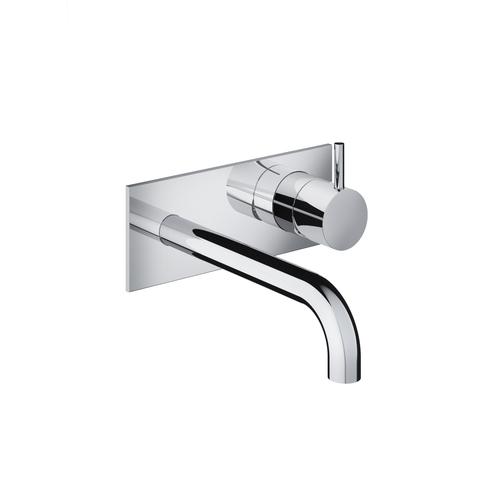 Hotbath Cobber CB006 afbouwdeel wastafelkraan met achterplaat 18 cm uitloop mat wit
