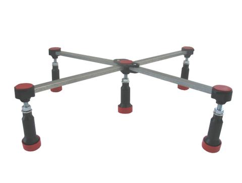 Blinq  douchebak-onderstel 5-poots verstelbaar 85-125mm.