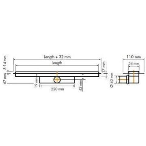 Easydrain Compact 30 TAF douchegoot 70cm