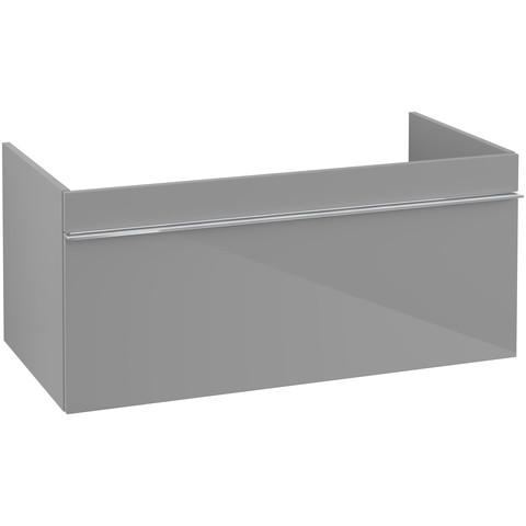 Villeroy & Boch Venticello wastafelonderkast 95.3x42 cm. 1x lade glossy grey