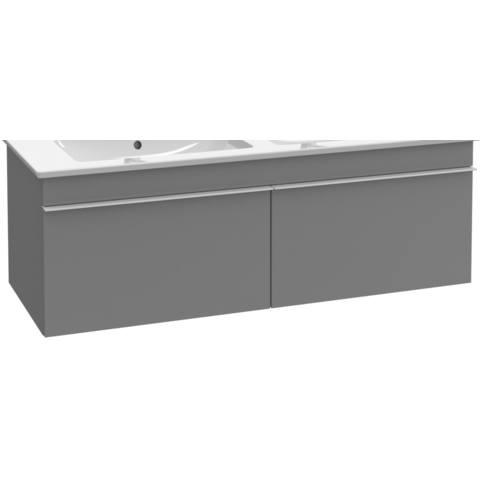 Villeroy & Boch Venticello wastafelonderkast 125.3x42 cm. 2x lade eiken grafiet