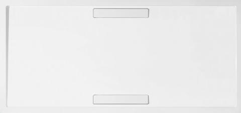 Villeroy & Boch Squaro douchebak 140x90x1,8cm. m/afvoer en ondersteuning stone white