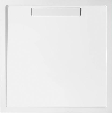 Villeroy & Boch Squaro douchebak 90x90x1,8cm. m/afvoer en ondersteuning stone white
