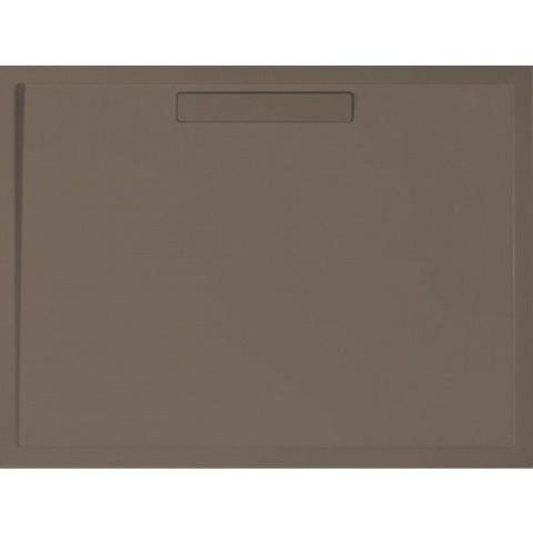 Villeroy & Boch Squaro douchebak 90x90x1,8 cm.met afvoer en ondersteuning bruin