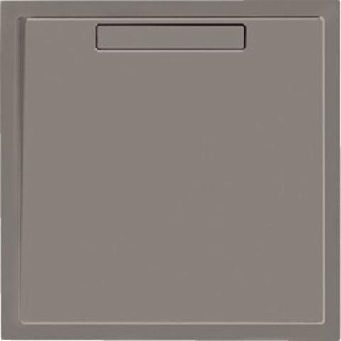 Villeroy & Boch Squaro douchebak 90x90x1,8 cm.met afvoer en ondersteuning grijs
