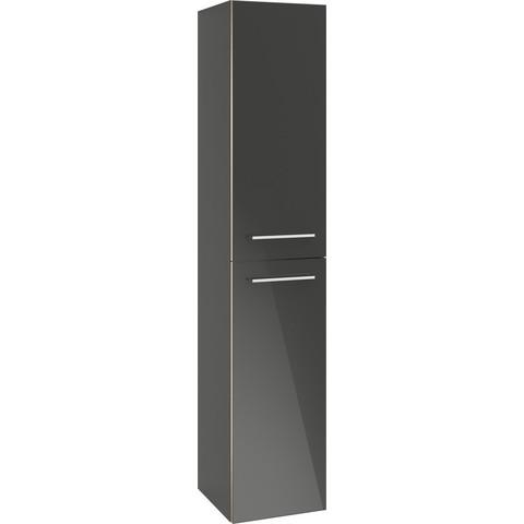 Villeroy & Boch Avento kast hoog 35x37x176 cm. 2x deur scharnier links crystal grey