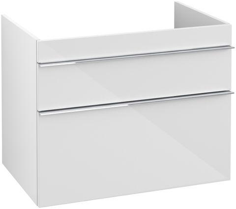 Villeroy & Boch Venticello wastafelonderkast 75.3x59 cm. 2x lade glossy wit