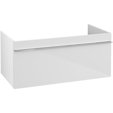 Villeroy & Boch Venticello wastafelonderkast 95.3x42 cm. 1x lade glossy wit