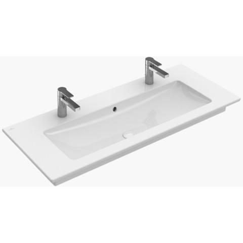 Villeroy & Boch Venticello meubelwastafel 100x50 cm.2x kraangat m/overloop c+ wit